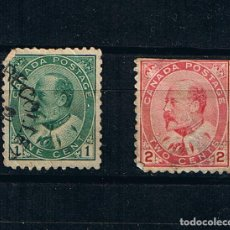 Francobolli: CANADA 1903 REY EDUARDO VII - PAREJA DE SELLOS ANTIGUOS CANADA POSTAGE YVERT 78. Lote 212831333