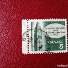Sellos: CANADA - VALOR FACIAL 5 - AÑO 1965 - CONGRESO DE LA UNIÓN INTERPARLAMENTARIA. Lote 214421382