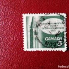 Sellos: CANADA - VALOR FACIAL 5 - AÑO 1965 - CONGRESO DE LA UNIÓN INTERPARLAMENTARIA. Lote 214421435
