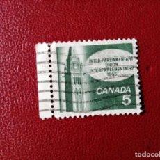 Sellos: CANADA - VALOR FACIAL 5 - AÑO 1965 - CONGRESO DE LA UNIÓN INTERPARLAMENTARIA. Lote 214421475