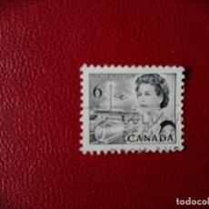 Sellos: CANADA - VALOR FACIAL 6 - AÑO 1967 - REINA ISABEL II - SC 458. Lote 214422200
