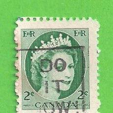 Sellos: CANADÁ - MICHEL 291AX - YVERT 268 - REINA ISABEL II. (1954).. Lote 217983980