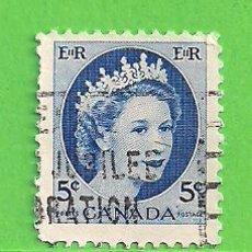 Sellos: CANADÁ - MICHEL 294X - YVERT 271 - REINA ISABEL II. (1954).. Lote 217985346