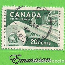 Sellos: CANADÁ - MICHEL 309 - YVERT 289 - INDUSTRIA - PAPELERA. (1956).. Lote 217985762