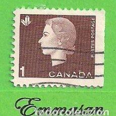 Sellos: CANADÁ - MICHEL 348EXR - YVERT 328 - REINA ISABEL II. (1963).. Lote 217986066