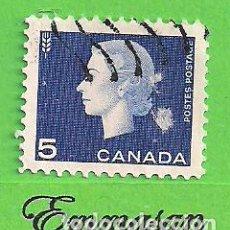 Sellos: CANADÁ - MICHEL 352AX - YVERT 332 - REINA ISABEL II. (1963).. Lote 217986951