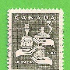Sellos: CANADÁ - MICHEL 387AX - YVERT 367 - NAVIDAD. (1965).. Lote 218006257
