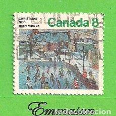 Sellos: CANADÁ - MICHEL 577 - YVERT 551 - NAVIDAD. (1974).. Lote 218007878
