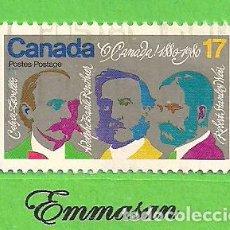 Sellos: CANADÁ - MICHEL 769 - YVERT 737 - COMPOSITORES - CENT. DE ''LA O CANADÁ'' HIMNO NACIONAL. (1980).. Lote 218008740