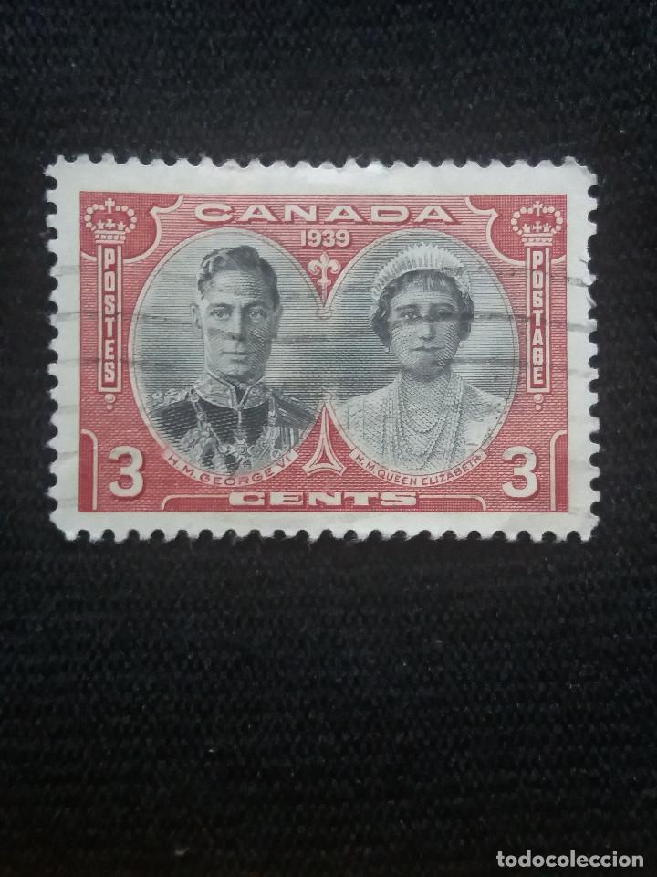 CANADA, 3 CENTS, REY GEORGE VI. Y REINA ELIZABETH, AÑO 1939. (Sellos - Extranjero - América - Canadá)