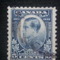 Sellos: CANADA, 5 CENTS, PRICIPE DE WALES, AÑO 1932.. Lote 219643461