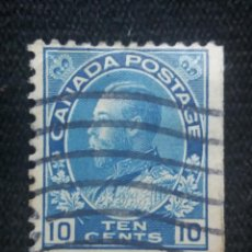 Sellos: CANADA, 10 CENTS, GEORGE V, AÑO 1912.. Lote 219643867