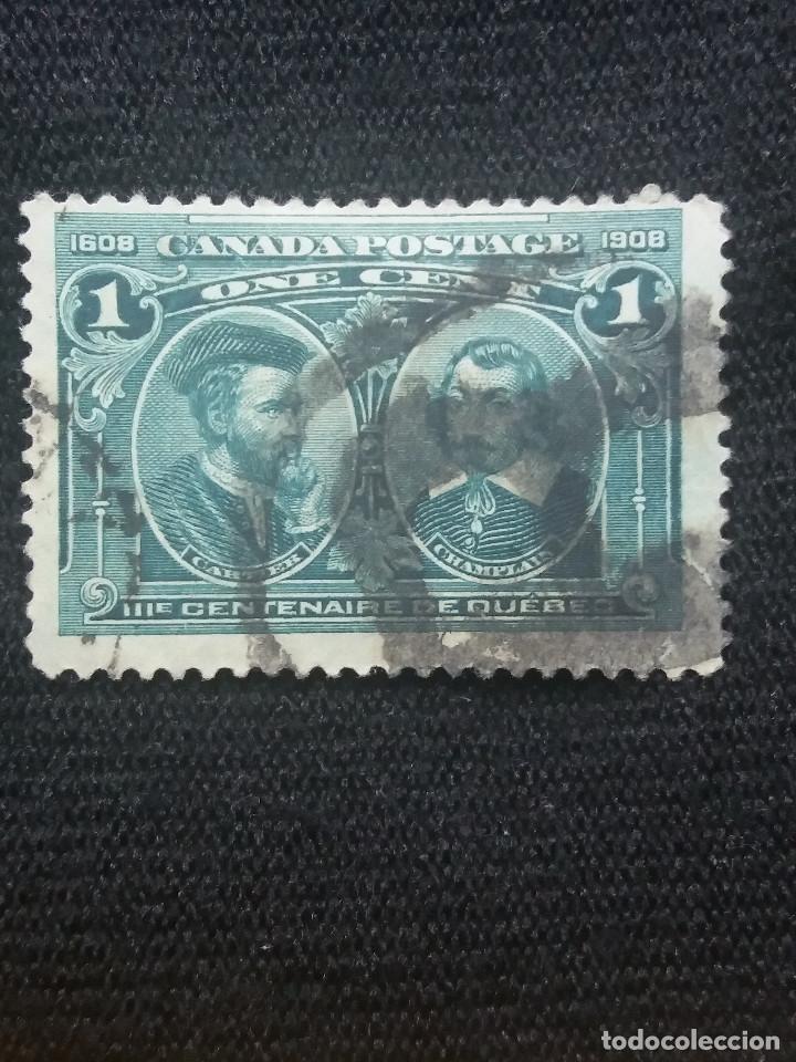 CANADA, 1 CENTS, QUEBEC, AÑO 1908. (Sellos - Extranjero - América - Canadá)