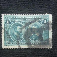 Sellos: CANADA, 1 CENTS, QUEBEC, AÑO 1908.. Lote 219644813