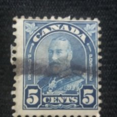 Sellos: CANADA, 5 CENTS, REY GEORGE V, AÑO 1920.. Lote 219645133