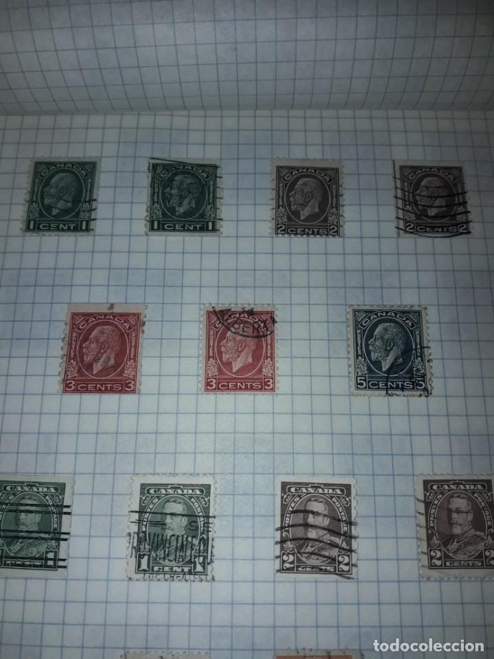 Sellos: Excepcional gran lote de 384 antiguos sellos de Canadá usados - Foto 5 - 219723630