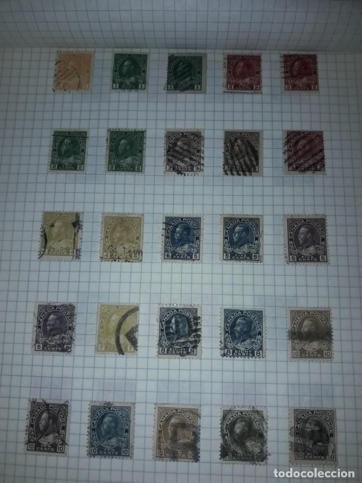 Sellos: Excepcional gran lote de 384 antiguos sellos de Canadá usados - Foto 7 - 219723630