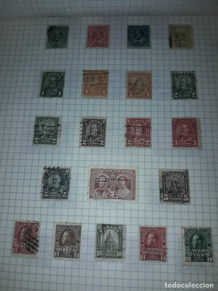 Sellos: Excepcional gran lote de 384 antiguos sellos de Canadá usados - Foto 10 - 219723630