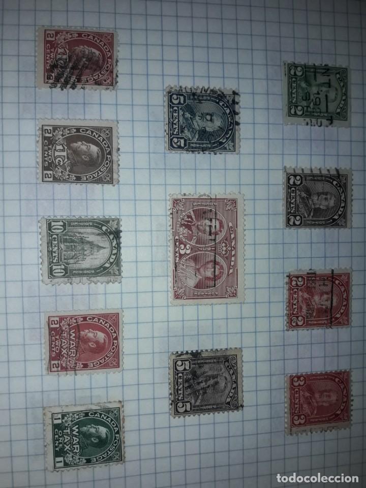 Sellos: Excepcional gran lote de 384 antiguos sellos de Canadá usados - Foto 12 - 219723630