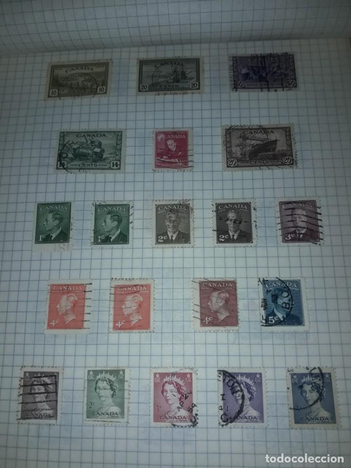 Sellos: Excepcional gran lote de 384 antiguos sellos de Canadá usados - Foto 19 - 219723630
