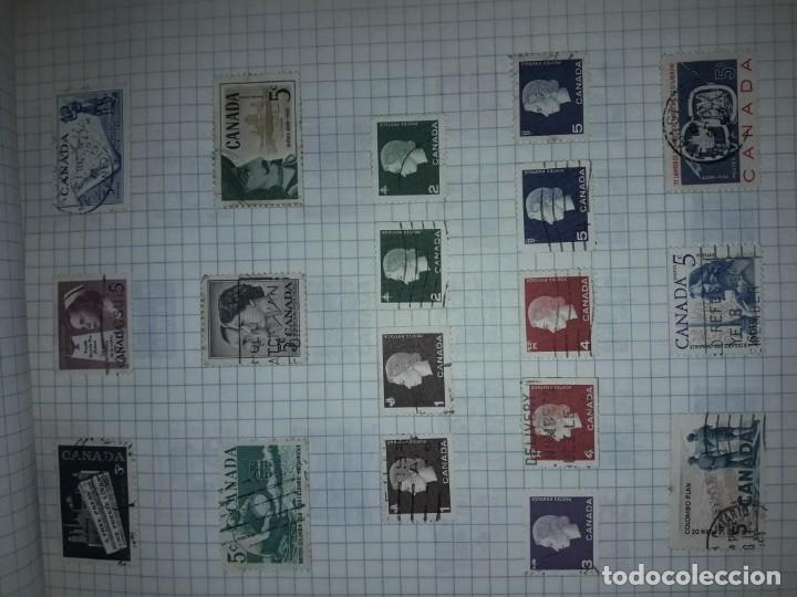 Sellos: Excepcional gran lote de 384 antiguos sellos de Canadá usados - Foto 28 - 219723630