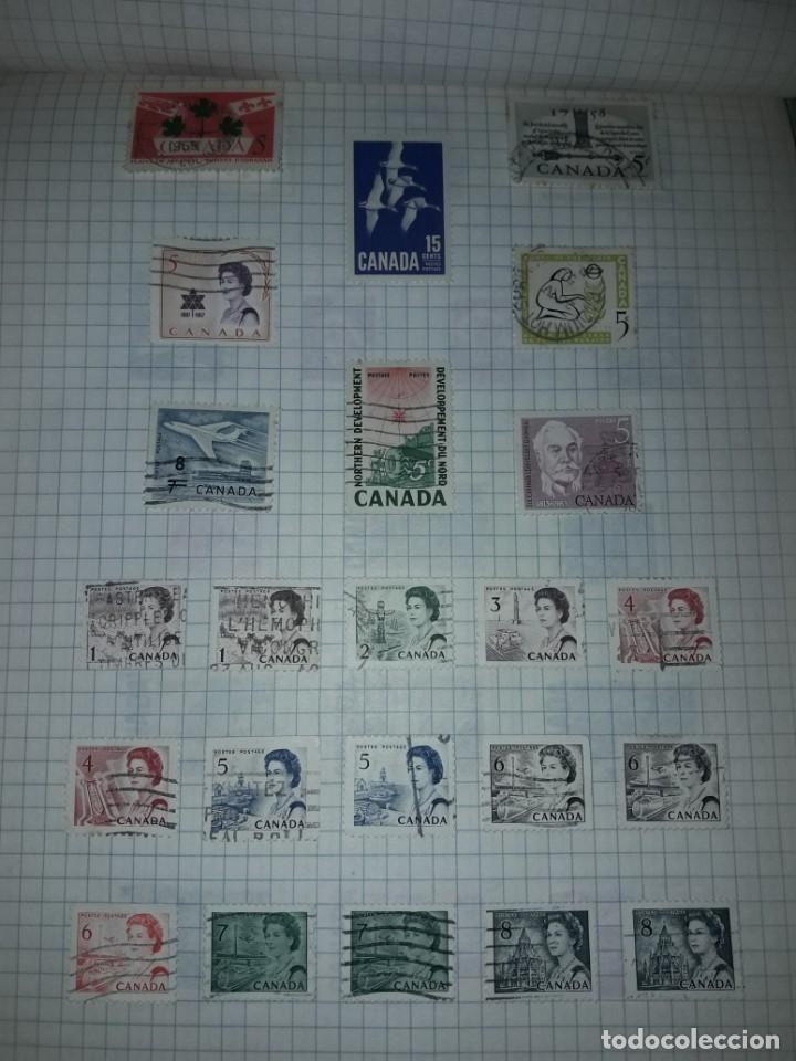 Sellos: Excepcional gran lote de 384 antiguos sellos de Canadá usados - Foto 31 - 219723630