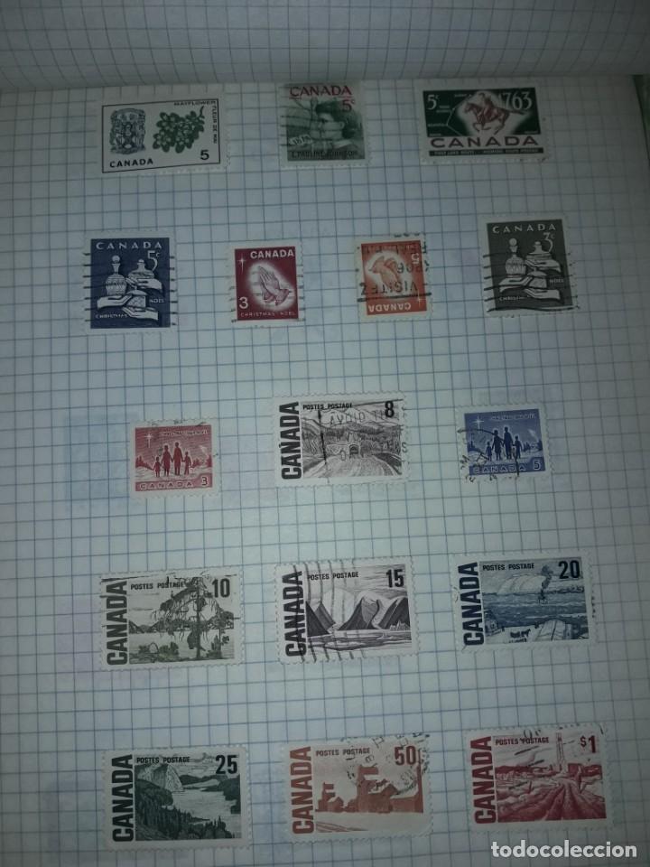 Sellos: Excepcional gran lote de 384 antiguos sellos de Canadá usados - Foto 34 - 219723630