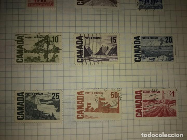 Sellos: Excepcional gran lote de 384 antiguos sellos de Canadá usados - Foto 36 - 219723630