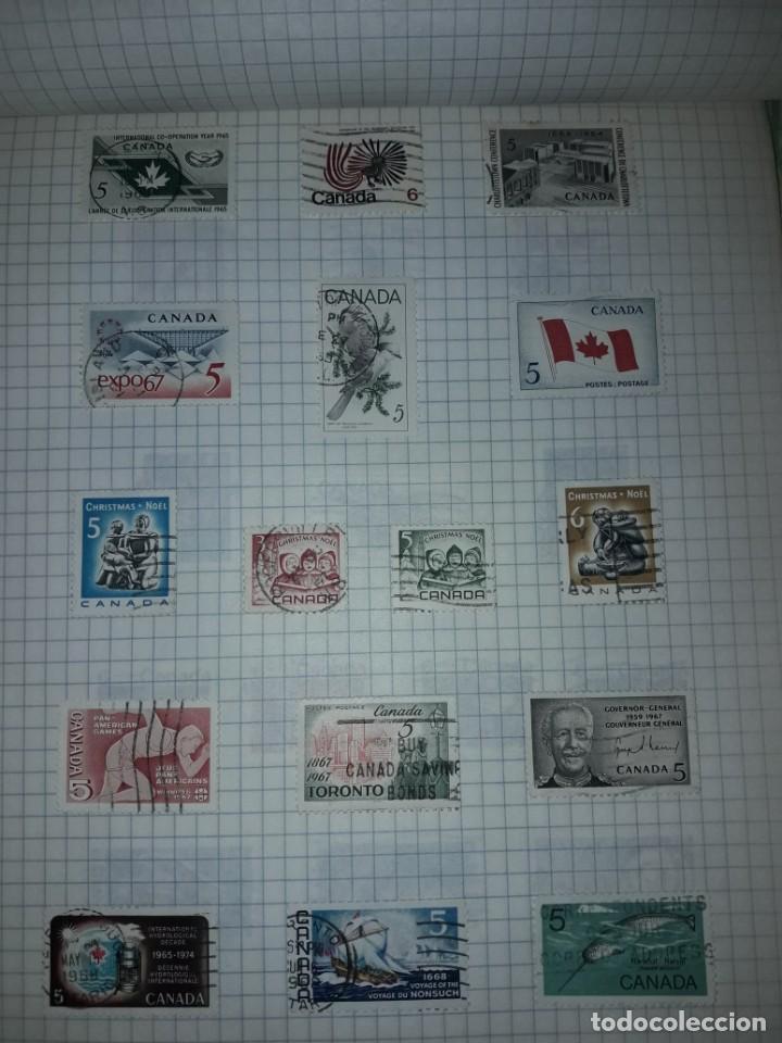 Sellos: Excepcional gran lote de 384 antiguos sellos de Canadá usados - Foto 37 - 219723630
