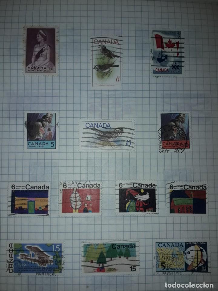 Sellos: Excepcional gran lote de 384 antiguos sellos de Canadá usados - Foto 40 - 219723630