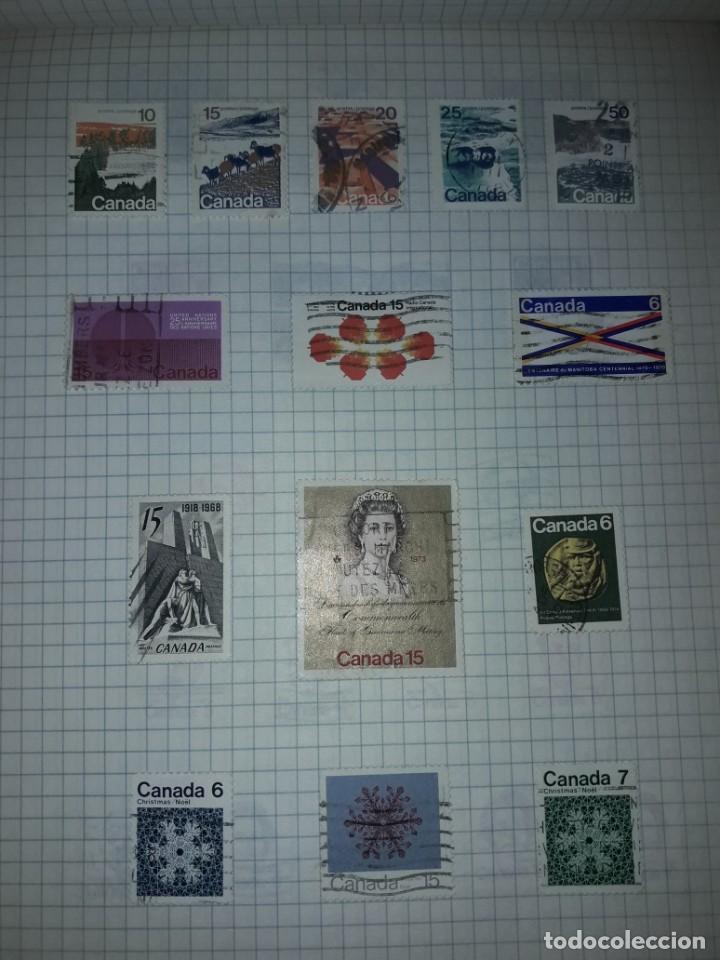 Sellos: Excepcional gran lote de 384 antiguos sellos de Canadá usados - Foto 41 - 219723630