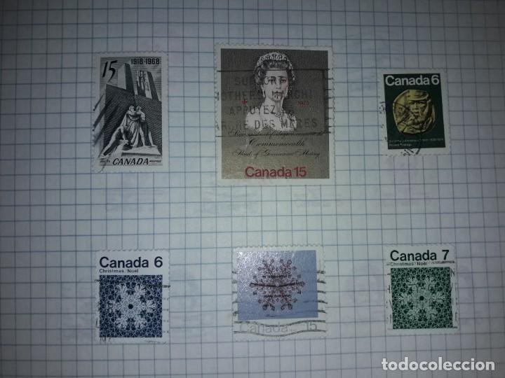 Sellos: Excepcional gran lote de 384 antiguos sellos de Canadá usados - Foto 43 - 219723630