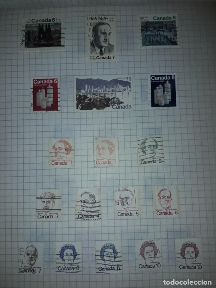 Sellos: Excepcional gran lote de 384 antiguos sellos de Canadá usados - Foto 44 - 219723630