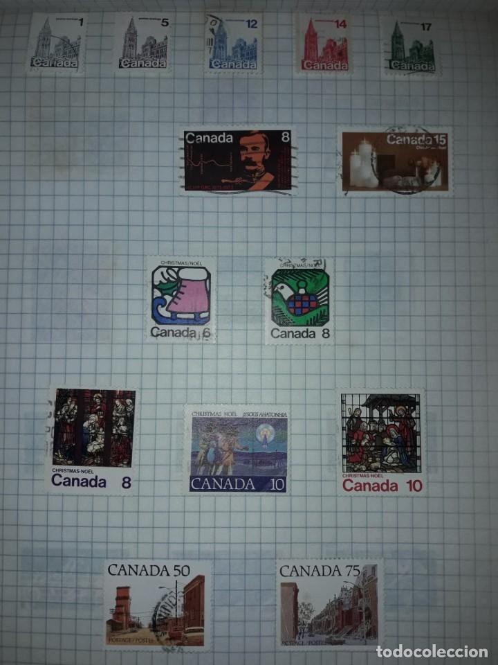 Sellos: Excepcional gran lote de 384 antiguos sellos de Canadá usados - Foto 50 - 219723630