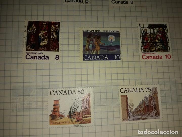 Sellos: Excepcional gran lote de 384 antiguos sellos de Canadá usados - Foto 52 - 219723630