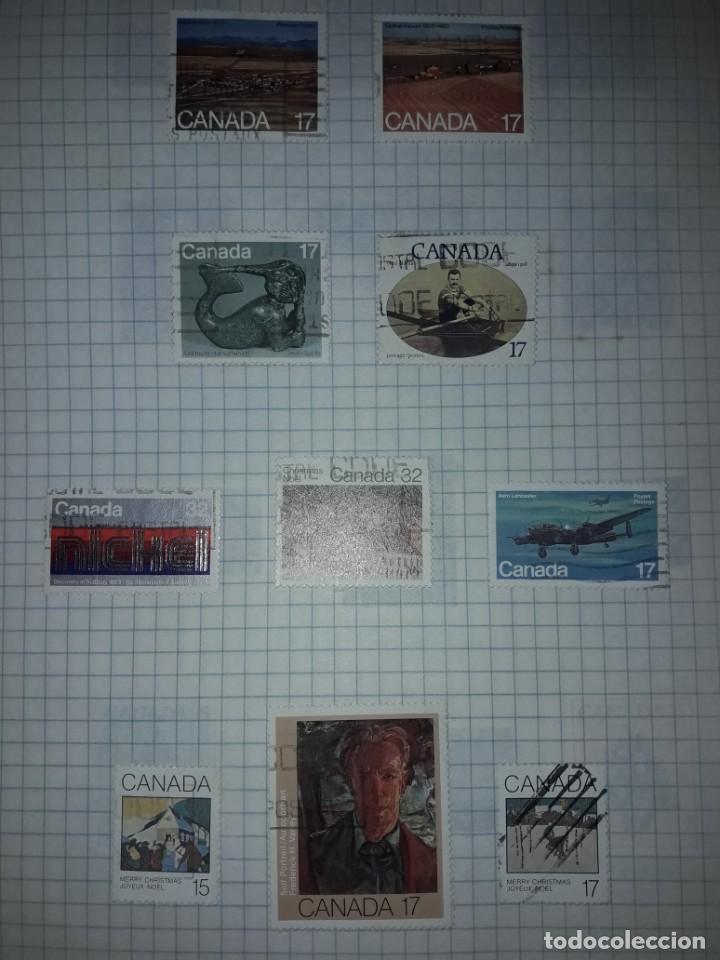 Sellos: Excepcional gran lote de 384 antiguos sellos de Canadá usados - Foto 56 - 219723630