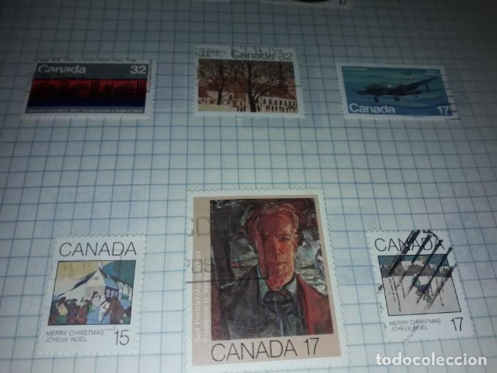 Sellos: Excepcional gran lote de 384 antiguos sellos de Canadá usados - Foto 58 - 219723630