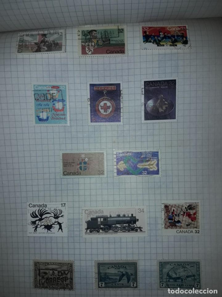 Sellos: Excepcional gran lote de 384 antiguos sellos de Canadá usados - Foto 61 - 219723630