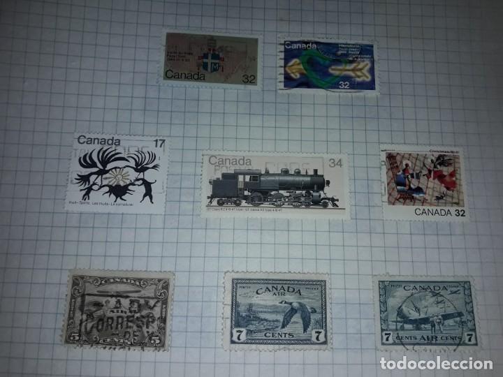 Sellos: Excepcional gran lote de 384 antiguos sellos de Canadá usados - Foto 63 - 219723630