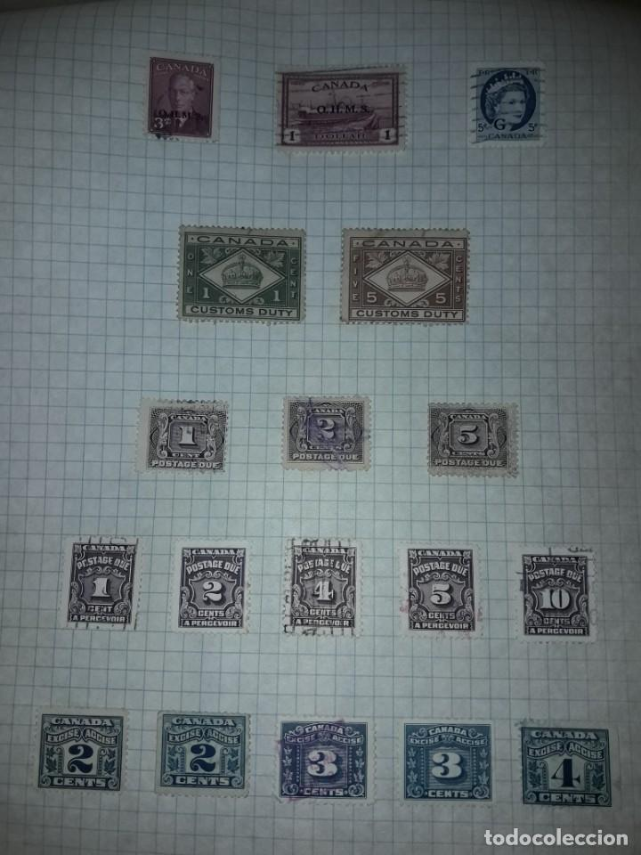 Sellos: Excepcional gran lote de 384 antiguos sellos de Canadá usados - Foto 64 - 219723630