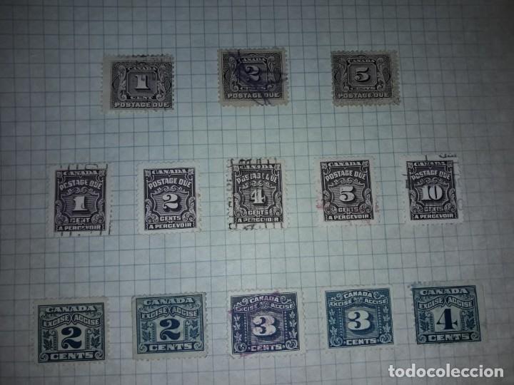 Sellos: Excepcional gran lote de 384 antiguos sellos de Canadá usados - Foto 66 - 219723630
