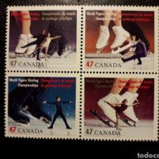Francobolli: CANADÁ YVERT 1850/3 SERIE COMPLETA NUEVA ***. 2001. DEPORTES. PATINAJE ARTÍSTICO. Lote 220304743