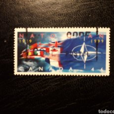 Francobolli: CANADÁ YVERT 1697 SERIE COMPLETA USADA. OTAN. NATO. BANDERAS 1999.. Lote 220439197