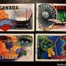 Francobolli: CANADÁ YVERT 1454/7 SERIE COMPLETA USADA. ALTA TECNOLOGÍA EN CANADÁ 1996. Lote 220439482