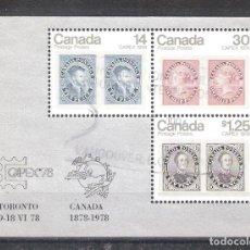 Sellos: CANADA H.B. Nº 1º CENTENARIO DE LA ADHESIÓN DE CANADÁ A LA UPU. EXPOSICIÓN FILATÉLICA INTERNACIONAL. Lote 221498543