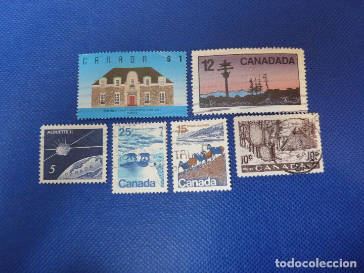 CANADÁ, UNOS POCOS SELLOS USADOS, BIEN CONSERVADOS.VER FOTOS. (Sellos - Extranjero - América - Canadá)