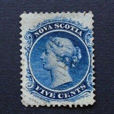Sellos: CANADÁ, NUEVA ESCOCIA . SELLO 5 CENTS 1860 . REINA VICTORIA . USADO. Lote 222305991