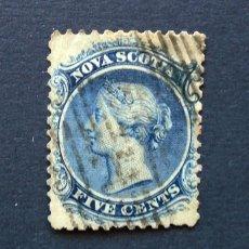 Sellos: CANADÁ, NUEVA ESCOCIA . SELLO 5 CENTS 1860 . REINA VICTORIA . USADO. Lote 222306103