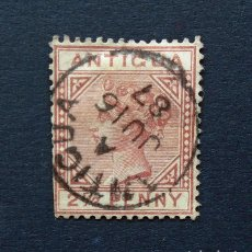 Sellos: ANTIGUA . SELLO 2 1/2 PENIQUES - PENCES 1882 . REINA VICTORIA . USADO. Lote 222307070