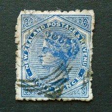 Sellos: NUEVA ZELANDA . SELLO 8 PENIQUES - PENCES 1882 . REINA VICTORIA . USADO. Lote 222307568